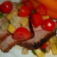 Chipotle Rubbed Boneless Pork Loin Rib Roast with pineapple salsa